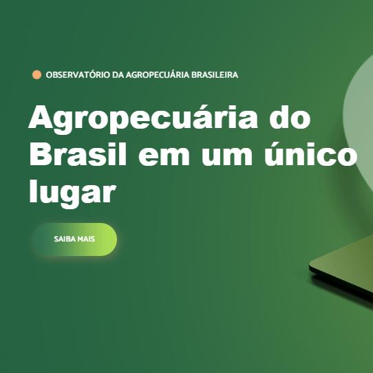 Banner Observatório Agropecuária Brasileira
